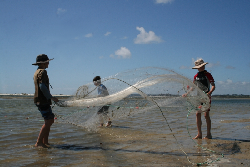 Throw nets at Paua, 40 minutes north of Pukenui Holiday Park