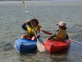 kayaking in Houhora Harbour, 5 minutes from Pukenui Holiday Park