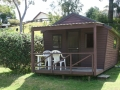 Tourist Cabin with verandah, Pukenui Holiday Park
