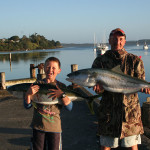 Kingfish caught on Pukenui Wharf, a short walk from Pukenui Holiday Park