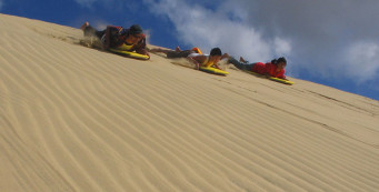Sand Surfing on the Giant Te Paki Sand Dunes