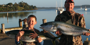 Kingfish Caught off the Pukenui Wharf