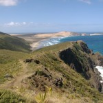 View from the cliff tops on the walking track from Tapotupotu Bay, 50 minutes drive from Pukenui Holiday Park