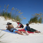 White sands of Rarawa Beach, 15 minutes from Pukenui Holiday Park